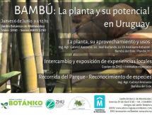 Afiche Curso Bambú en Uruguay Junio 2019