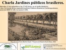 Charla Jardines públicos brasileros contemporáneos