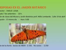 "Charla ""Mariposas en el Botánico"""