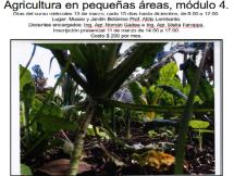 Curso Agricultura en pequeñas áreas Módulo IV